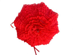 Red Lace Parasol