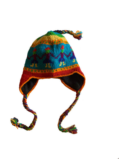 Very Cozy One size fits all, with ear flaps to keep you warn in the cold breeze!