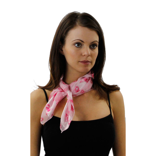 745ac35de25ce Breast Cancer Awareness Patterned Square Scarf in 3 Colors