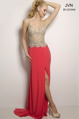 JVN by Jovani JVN25420 Coral Size 4 on SALE