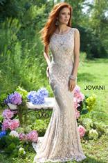 Jovani 21789 Champagne Prom Dress Size 10 on SALE