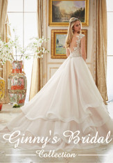 Morilee Bridal Wedding Dress Style 2895 Ivory/Blush Size 10 on Sale