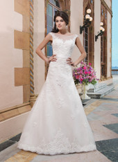 Sincerity Bridal by Justin Alexander Bridal Dress 3822 Ivory Size 14 on Sale