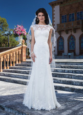 Sincerity Bridal by Justin Alexander Bridal Dress 3837 Ivory Size 12 on Sale