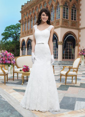 Sincerity Bridal by Justin Alexander Bridal Dress 3835 Ivory Size 14 on Sale