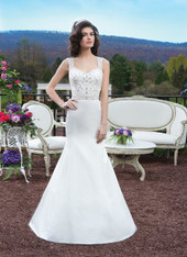 Sincerity Bridal by Justin Alexander Bridal Dress 3805 Ivory Size 10 on Sale