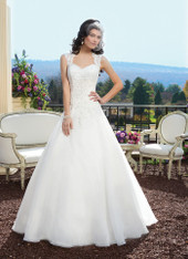 Sincerity Bridal by Justin Alexander Bridal Dress 3809 Ivory Size 14 on Sale
