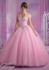 Vizcaya by Mori Lee Quinceanera Dress 89017, Pink Panther, Size 10 on SALE