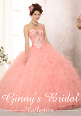 Vizcaya by Mori Lee Quinceanera Dress 88085, Blush, Size 12 on SALE