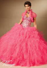 Vizcaya by Mori Lee Quinceanera Dress 89049, Pink Panther / Nude Size 8 on SALE