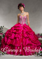 Vizcaya by Mori Lee Quinceanera Dress 88064, Cerise, Size 8 on SALE