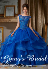Vizcaya by Mori Lee Quinceanera Dress 89117, Royal Blue, Size 10 on SALE