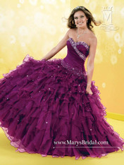 Princess by Mary's Quinceanera Dress 4Q673, Magenta, Size 8 on SALE