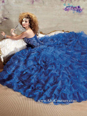 Alta Couture by Mary's Quinceanera Dress 4T108, Royal Blue, Size 8 on SALE