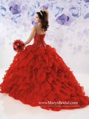 Beloving by Mary's Quinceanera Dress 4114, Red, Size 10 on SALE
