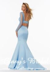 Morilee Prom by Madeline Gardner Style 99029 Light Blue Size 10 on Sale