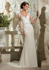 Blu by Mori Lee Bridal Dress 5306 Ivory Size 8 on Sale