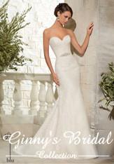 Blu by Mori Lee Bridal Dress 5307 Ivory Size 14 on Sale