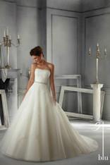 Blu by Mori Lee Bridal Dress 5263 Ivory Size 12 on Sale