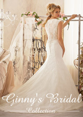 Mori Lee Wedding Dress 2604 White Size 12 on Sale