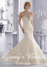 Mori Lee Wedding Dress 2675 Ivory Size 12 on Sale