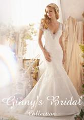 Mori Lee Wedding Dress 2613 Ivory Size 14 on Sale