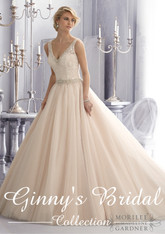 Mori Lee Wedding Dress 2684 Caramel Size 10 on Sale