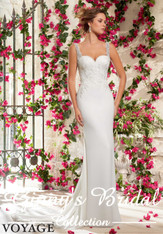 Voyage by Mori Lee Wedding Dress 6798 Ivory Size 12 on Sale
