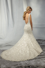 AF Angelina Faccenda Couture by Mori Lee Wedding Dress 1304 Ivory Size 12 on Sale