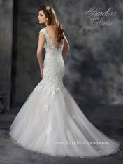 Karelina Sposa Exclusive by Mary's Bridal Wedding Dress C8038 Ivory Size 16 on Sale