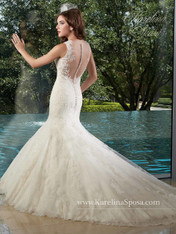 Karelina Sposa Exclusive by Mary's Bridal Wedding Dress C8017 Ivory Size 14 on Sale