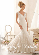 Morilee Bridal Wedding Dress Style 2605 Ivory Size 12 on Sale