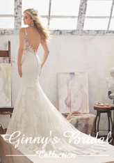 Mori Lee Bridal Wedding Dress Style 8115/Marcelline Ivory/Champagne Size 14 on Sale