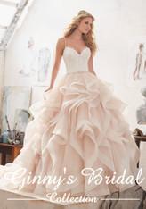 Morilee Bridal Wedding Dress Style Marilyn/8127 Ivory/Caramel Size 12 on Sale