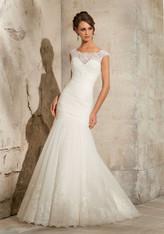 Blu by Morilee Bridal Wedding Dress 5305 Ivory Size 8 on Sale