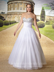 Mary's Bridal Wedding Dress Style 2460 Ivory Size 10 on Sale