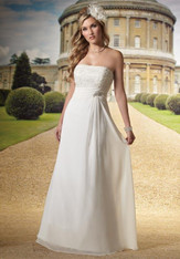 Mary's Bridal Wedding Dress Style 2458 Ivory Size 6 on Sale