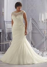 Julietta by Morilee Bridal Wedding Dress Style 3163 Ivory Size 26W Plus Size on Sale