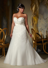 Julietta by Morilee Bridal Wedding Dress Style 3133 Ivory Size 22W Plus Size on Sale