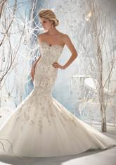 Morilee Bridal Wedding Dress Style 1963 White Size 14 on Sale