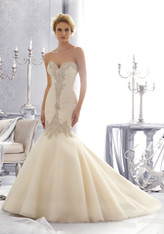Morilee Bridal Wedding Dress Style 2682 Ivory Size 14 on Sale