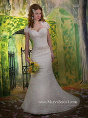 Mary's Bridal Wedding Dress Style 6174 White Size 8 on Sale