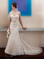Mary's Bridal Wedding Dress Style 6286 White Size 14 on Sale