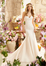 Voyage by Morilee Bridal Wedding Dress Style 6807 Ivory/Champagne Size 20 on Sale