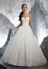 Blu by Morilee Bridal Wedding Dress Style 5617/Kalinda Ivory/Floral Size 12 on Sale