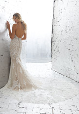 AF Angelina Faccenda Couture by Morilee Bridal Wedding Dress 1703/Kimora Ivory/Nude Size 6 on Sale