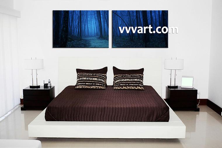 Canvas Prints, scenery canvas prints, Landscape Print, night wall art, forest wall art, bedroom wall art