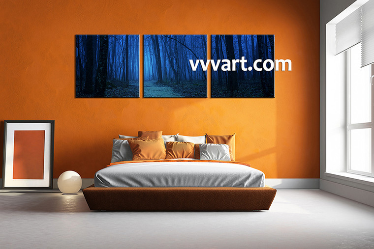 Canvas Prints, scenery canvas prints, landscape prints, bedroom wall art, forest wall art, night wall art