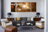 Scenery Art, Triptych canvas, living room wall art, forest wall art, night canvas print