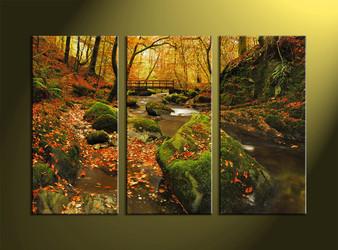 Landscape Art, 3 piece art, scenery wall art, forest wall art, nature wall art
